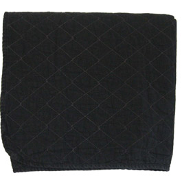 Black Quilted Throw