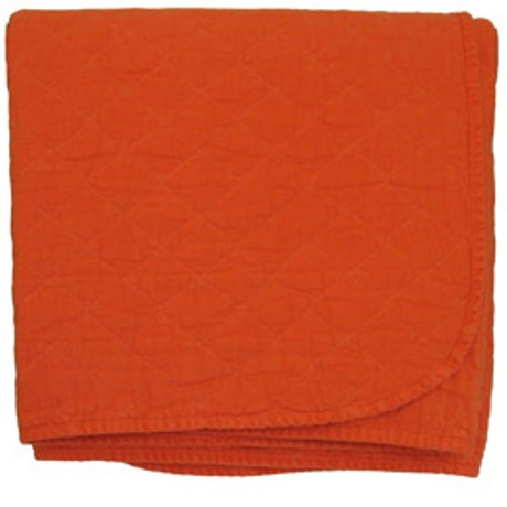 Bright Orange Quilted Throw