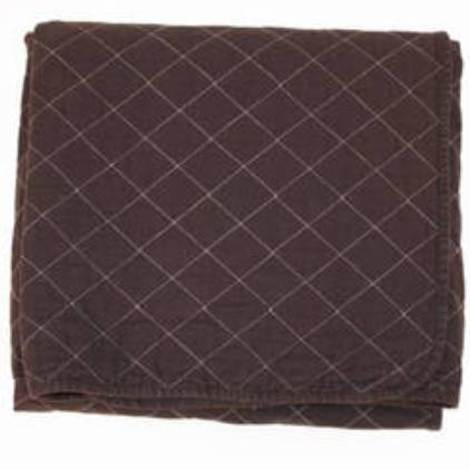 Chocolate Quilted Throw