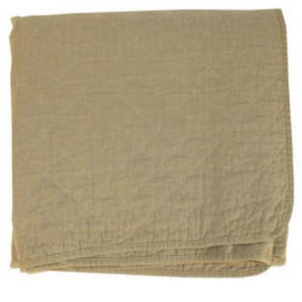 Khaki Quilted Throw