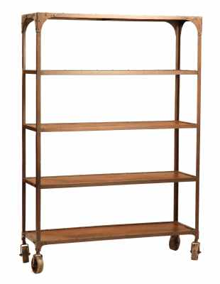 Iron Bookcase on Casters